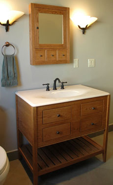 Double Height Apron Open Style Vanity